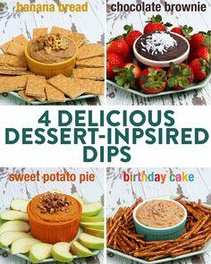 """Dessert """"Hummus"""" 4 Ways by Tasty"""