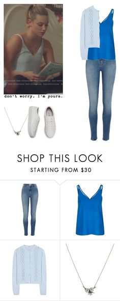 """""""Betty Cooper - Riverdale"""" by shadyannon ❤ liked on Polyvore featuring River Island, Topshop, Miu Miu and Shaun Leane"""