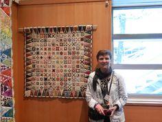 "Barbara Ott Larson's little Jane with the 2"" blocks"