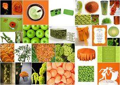 Cantaloupe, honeydew and Pistachio inspiration board