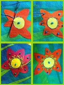 Artfabrik:  Flower Stitching Idea