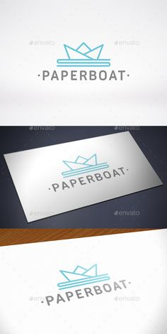 paper boat logo template