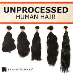 Sensationnel 100% Unprocessed Human Hair Natural Wavy