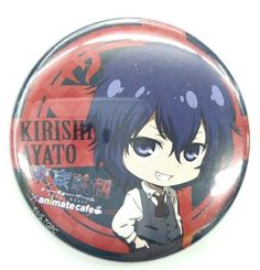 Tokyo Ghoul Can Original Badge Ayato Kirishima Sui Isihida Animate Cafe Rare F/S