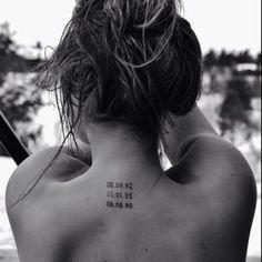 Pinterest: Hannah Cerise ♡ Birth dates tattoo