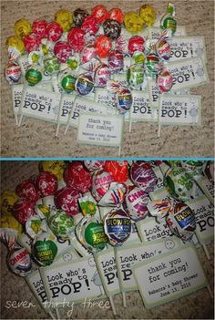 Ready to pop baby shower party favors