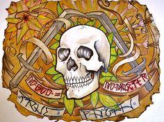 No god No master original tattoo art by tattoo by resonanteyes, $100.00