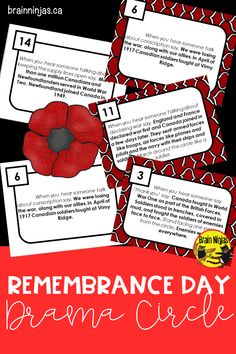 Ninja Notes Teach your students about why we need to honour our soldiers for Remembrance Day with this drama circle than encourages reading fluency and listening. Remembrance Day Activities, Remembrance Day Art, Drama Activities, Summer Activities For Kids, Teaching Kindergarten, Teaching Kids, Preschool, Kids Around The World, School Psychology