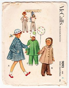 Vintage 1952 McCall's 9093 Sewing Pattern by SewUniqueClassique, $10.00