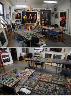 Barbara Rachko's studio     http://barbararachko.com/the-studio