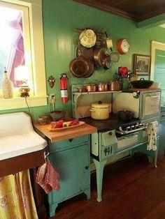 Vintage look kitchen
