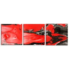 Lava Flow Black - Swirling Abstract Artwork Modern Metal Decor Urban Art Contemporary Dip-Painting by Renowned Artist Nicholas Yust. Lava Flow Black is another of Nicholas Yust's extremely popular abstract metal paintings in his 'Liquid Fusion' collection. This red and black version seems to depict exactly what the name suggests, with fiery molten lava and burnt charcoal flowing across the surface. Like every other piece in that collection, is completely unique and impossible to…