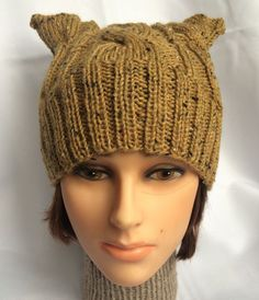 My late cat Nala's ears used to do this! Cat Ear Hat djfleesh #‎craftshout0211‬