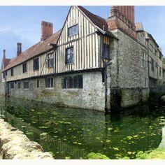 Ightam Mote, near Sevenoaks, Kent: A tudor manor house on an island.