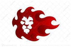 Logo for sale: Flame Lion Logo