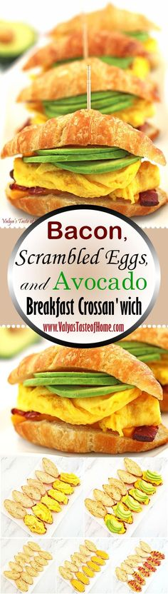 "This Bacon, Scrambled Eggs, and Avocado Breakfast Crossan'wich recipe is perfect for freezing and warming up in the morning. Avocado and eggs are among the few foods that I classify as ""superfoods"". They contain a little bit of almost every nutrient we need. Bacon and cheese complete that delicious smoky, salty and cheesy flavors of super tasty breakfast sandwich that makes you get up early in the morning for 