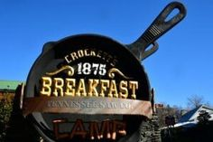Crockett's Breakfast Camp in Gatlinburg serves a full country breakfast in a fun mountain lodge setting.