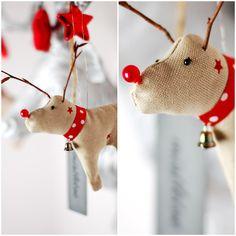 Anleitung und Schnittmuster zum Nähen von Rentier Anhängern zu Weihnachten