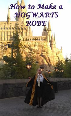 The most accurate tutorial on how to make a Hogwarts Robe! I am so happy I finally have my own Hufflepuff robe! I'm tempted to make Ravenclaw, Slytherin, and Griffindor just because! I got many compliments from this robe when I wore it to the parks - it's extra billowy like Snape's cloak, it's my favorite!!