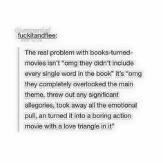 video game based movies have this problem too. So did that awful Avatar movie :p