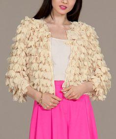 Ivory Petal Crop Jacket