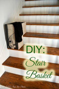 Confessions of The YankeeGirl: DIY: Stair Basket