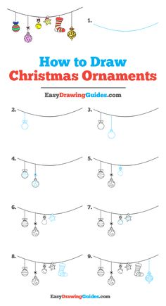 Idea: This with a royal blue background Learn to draw Christmas ornaments. This step-by-step tutorial makes it easy. Kids and beginners alike can now draw a great looking Christmas decorations. Easy Christmas Drawings, Christmas Doodles, Diy Christmas Cards, Simple Christmas, Kids Christmas, Christmas Ornaments, Christmas Decorations, Xmas, Bullet Journal Ideas Pages
