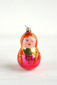 Russian Matrioshka doll ornament.