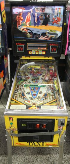 """Pinball,all kinds although this one Williams 'Taxi' was a personal favorite.I always loved machines by """"Python Angelo"""""""
