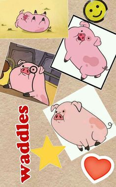 Waddles the pig from gravity falls