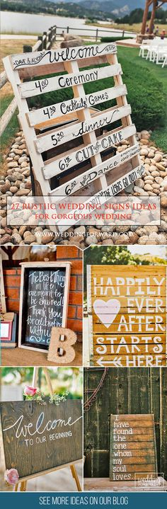 27 Most Popular Rustic Wedding Signs Ideas❤ We think that It's a good idea to save some budget and do beautiful rustic wedding signs by your hands. Here are some ideas for your inspiration as a couple. See more: http://www.weddingforward.com/rustic-wedding-signs/ #wedding #decorations