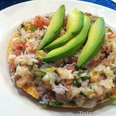 Crab Tostada    Crab Tostada at Playas Azul Restaurant in San Francisco, CA    3318 Mission Street San Francisco, CA 94110, US