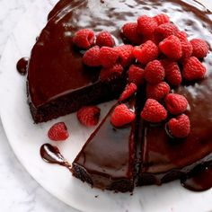 WW Friendly - Ganache-Topped Chocolate Cake Recipe -Although this cake looks very elegant and like something you'd only serve at special occasions, it's really, really easy. —Taste of Home Test Kitchen British Baking Show Recipes, British Bake Off Recipes, Baking Recipes, Cake Recipes, Dessert Recipes, British Desserts, Great British Bake Off, Chocolate Ganache, Chocolate Desserts
