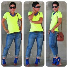 Neon Lights! Boyfriend, Heelless and Glowing <3 mimi g. The first time I can appreciate the heel-less heel.