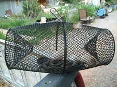 BE PREPARED at your COOP! eww SNAKES use Minnow TRAP ALWAYS sitting around the Coop if you cut two plastic soda bottles in you can make the same thing with rabbit pen wire rolled for the middle. Chicken Pen, Chicken Coup, Chicken Eggs, Keeping Chickens, Raising Chickens, Pet Chickens, Chickens Backyard, Urban Chickens, Rabbits