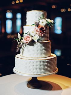 Photography: Ryan Ray Photography - ryanrayphoto.com Cake: Blue Note Bakery - http://bluenotebakery.com   Read More on SMP: http://www.stylemepretty.com/2016/03/03/modern-downtown-austin-wedding-with-17-stylish-bridesmaids/