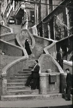 Henri Cartier-Bresson: Istanbul, 1965 Stairways, ideas, stair, home, house, decoration, decor, indoor, outdoor, staircase, stears, staiwell, railing, floors, apartment, loft, studio, interior, entryway, entry.