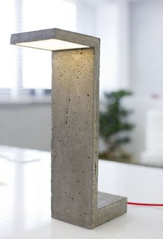 Concrete 'S' Lamp