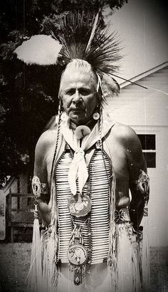 Apesanahkwat, a former tribal chairman of the Menominee Tribe, Wisconsin. No date or additional information re: this photo.