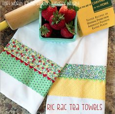 June Mystery Project 3 {Ric Rac Tea Towels}