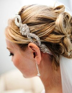 wedding hairstyles with veil underneath - Google Search