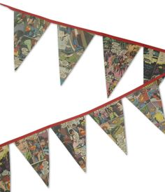 Would love to get my hands on this for Car's room!! Superman Bunting by NoahsArkandCrafts on Etsy, £8.50