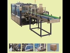 End of Line packaging of a bottled water plant: shrink-wrapping and cart...