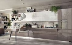 Cucine scavolini 2015 - Cucina in grigio e bianco