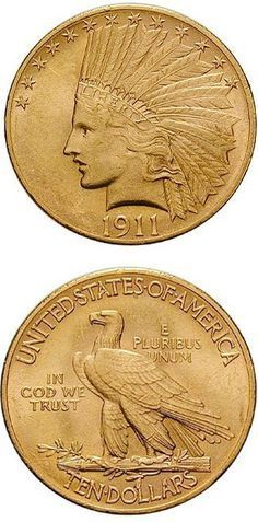 N♡T.USA, 10 Dollars 1911, 15,05 g,gold.