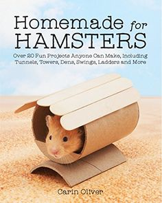 Homemade for Hamsters: Over 20 Fun Projects Anyone Can Make Including Tunnels Towers Dens Swings Ladders and. Dwarf Hamster Toys, Diy Hamster Toys, Hamster Life, Hamster Habitat, Rat Toys, Guinea Pig Toys, Guinea Pigs, Hamster Stuff, Chinchillas