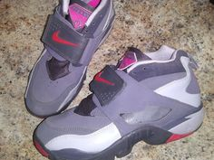 223140e87d86ac (ebay link) nike air diamond turf pink gray mids preowned 2013 7 youth
