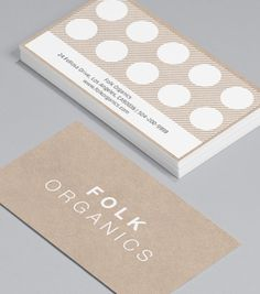 Folk Organics: if you're looking for a clean, no frills design - Folk Organics is for you! The flexible format coupled with a loyalty card reverse, makes it ideal for health food shops, spas or anyone looking for something pure and simple with that extra incentive. #moocards #businesscard