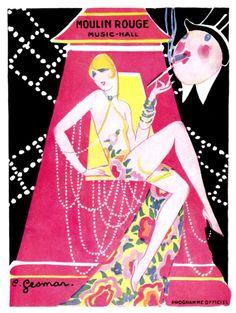 vintagechampagnefever:   Moulin Rouge programme cover