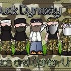 Do you and your students LOOOOOVE Duck Dynasty?! How could you not, right?!  Even if they don't know who the crazy Robertson family is, they will LOVE this fact and Opinion unit!